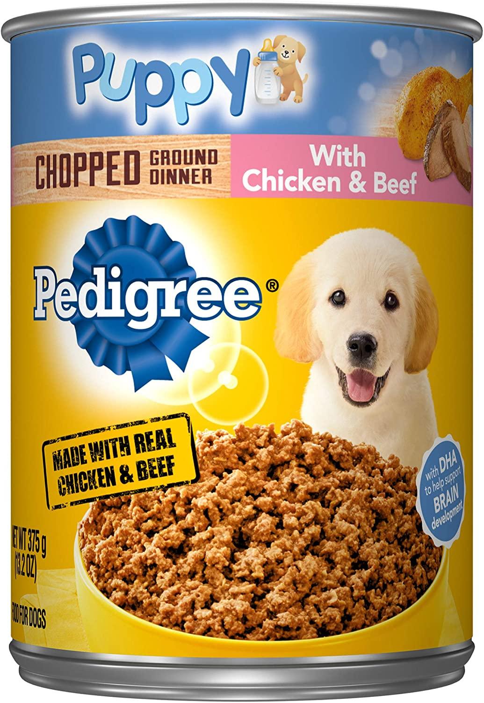 Pedigree Traditional Ground Dinner Moist Dog Food Chopped ... |Pedigree Dog Food Can