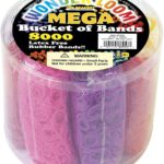 The Beadery Mega Bucket of Bands, 8000 Piece Only $9.97!