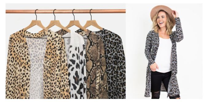 Animal Print Cardigans as low as $14.97 Shipped!