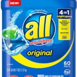 All Mighty Pacs Laundry Detergent, 60 Count as low as $6.62! Lowest Price!