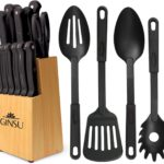 Ginsu Kiso Dishwasher Safe 18 Piece Knives & Utensils Set as low as $30.61 Shipped! Best Price!