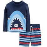 Simple Joys by Carter's Boys' 2-Piece Swimsuit Trunk and Rashguard Sets Only $15.99!