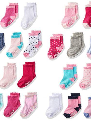 Baby Girl Socks 20-Pack Only $12.99! Great Baby Shower Gift!