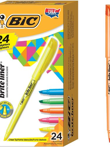 BIC Brite Liner Highlighters 24-Pack Only $4.33 Today Only!