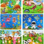 Wooden Jigsaw Puzzles, 6 pack Only $11.00!