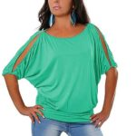 Batwing Cold Shoulder Tee Only $7.99!
