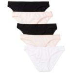 Iris & Lilly Women's Cotton Bikini Panty, 5-Pack Only $6.20!