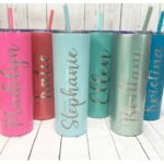 Personalized Engraved Skinny Tumbler Only $15.99!