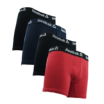 Reebok Men's Cotton Boxer Briefs 4-Pack Only $10!