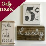 Farmhouse Signs - Laundry Set Only $19.99!