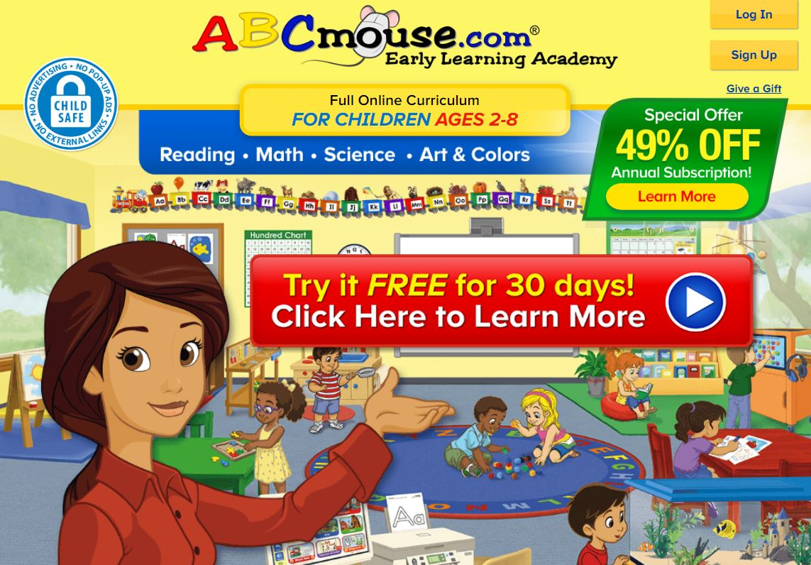 Get 1 Month FREE Access to ABCmouse and Adventure Academy! (2 Months for $5!)