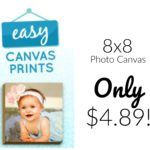 8x8 Photo Canvas from Easy Canvas Prints Only $4.89!