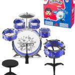 11-Piece Jazz Drum Set for Kids Only $8.95!