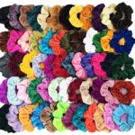 Pack of 60 Velvet Hair Scrunchies Only $7.99!