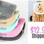 Criss Cross Messy Bun Hats Only $12.99 Shipped!