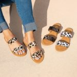 Leopard Double Band Sandals Only $21.99 Shipped!