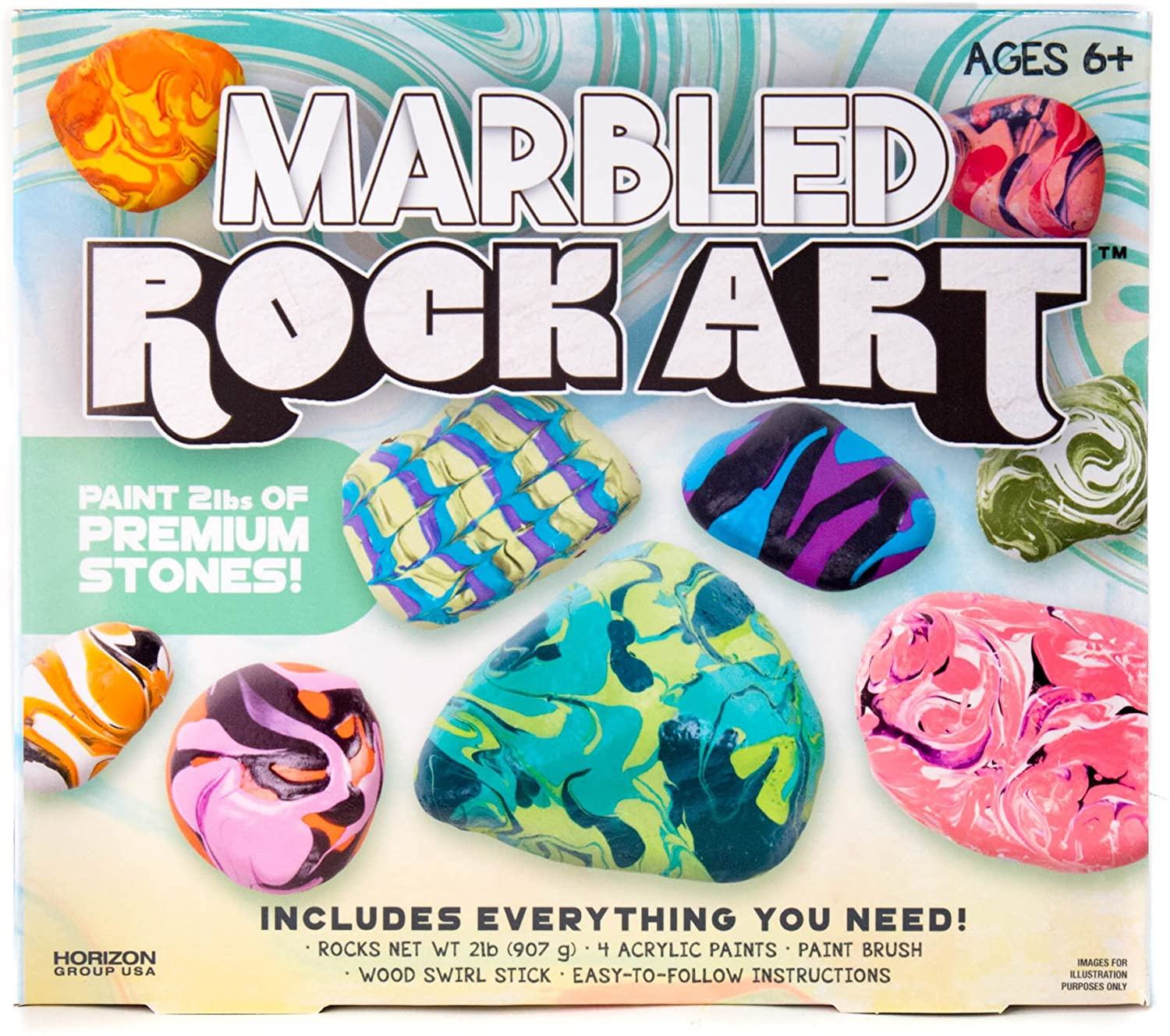 Marbled Rock Art Kit Only $7.99!