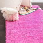 Solid Shag Rug - Taffy Pink Only $8.98!