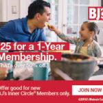 BJ's Inner Circle Membership Only $25! ($55 Value)
