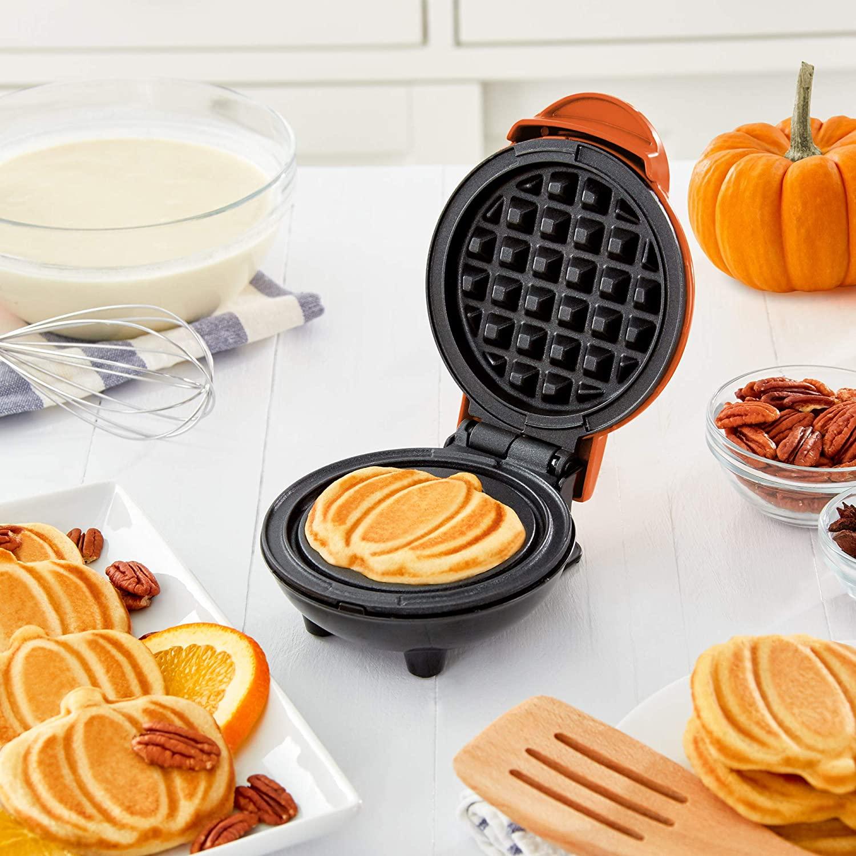 Dash Mini Pumpkin Waffle Maker Only $9.99!