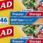 Glad Food Storage and Freezer 2 in 1 Zipper Bags as low as $2.43 per Box!