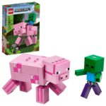 LEGO Minecraft Pig BigFig and Baby Zombie Character Only $9.99!