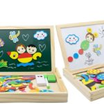 Magnetic Jigsaw Puzzles with Double Sided Drawing Easel Only $9.26!