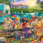 The Family Campsite 1000 Piece Jigsaw Puzzle Only $12.80!