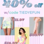 Tie Dye Tees, Shorts, and More as low as $11.97 + FREE Shipping!