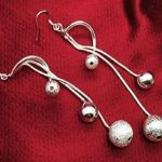Gorgeous Silver Ball Dangly Earrings $4.59!