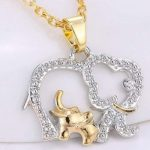 Mom & Baby Elephant Necklace Only $1.39 + FREE Shipping!