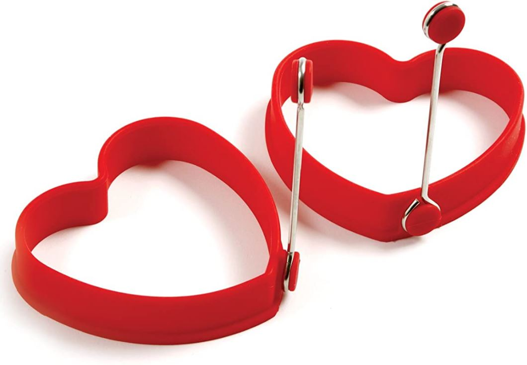 Set of 2 Heart Shaped Silicone Pancake Rings Only $8.81!