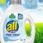 all Liquid Laundry Detergent Free Clear 110 Loads as low as $12.74!!