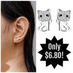 Sterling Silver Cat Earrings Only $6.80!