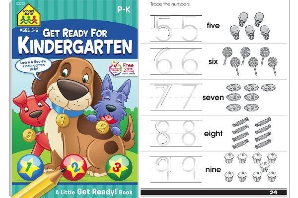 School Zone Get Ready for Kindergarten Workbook
