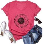 Sunflower Print T-Shirt Only $11.99!