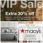 Macy's VIP Sale: Up to 30% Savings + $30 Rebate Offer!