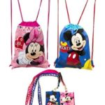 Mickey Mouse and Minnie Mouse Drawstring Backpack + Lanyards with Coin Purse Only $11.99!