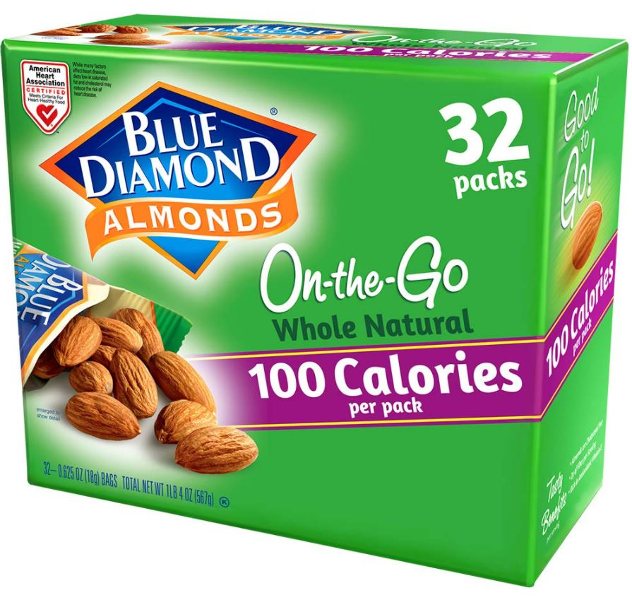 Blue Diamond Almonds 100-Calorie Packs 32-Count as low as $9.76!
