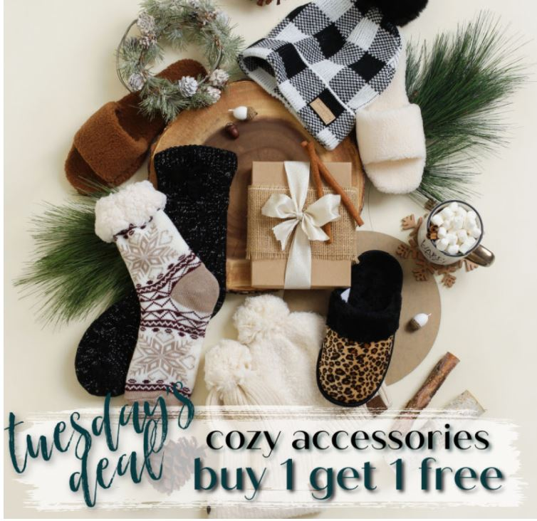 Cents of Style Slippers, Socks & Hats – Buy 1, Get 1 FREE!