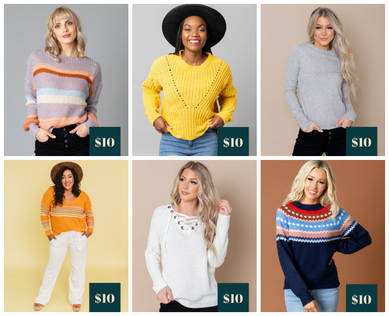 Cents of Style Sweater Sale as low as $10!