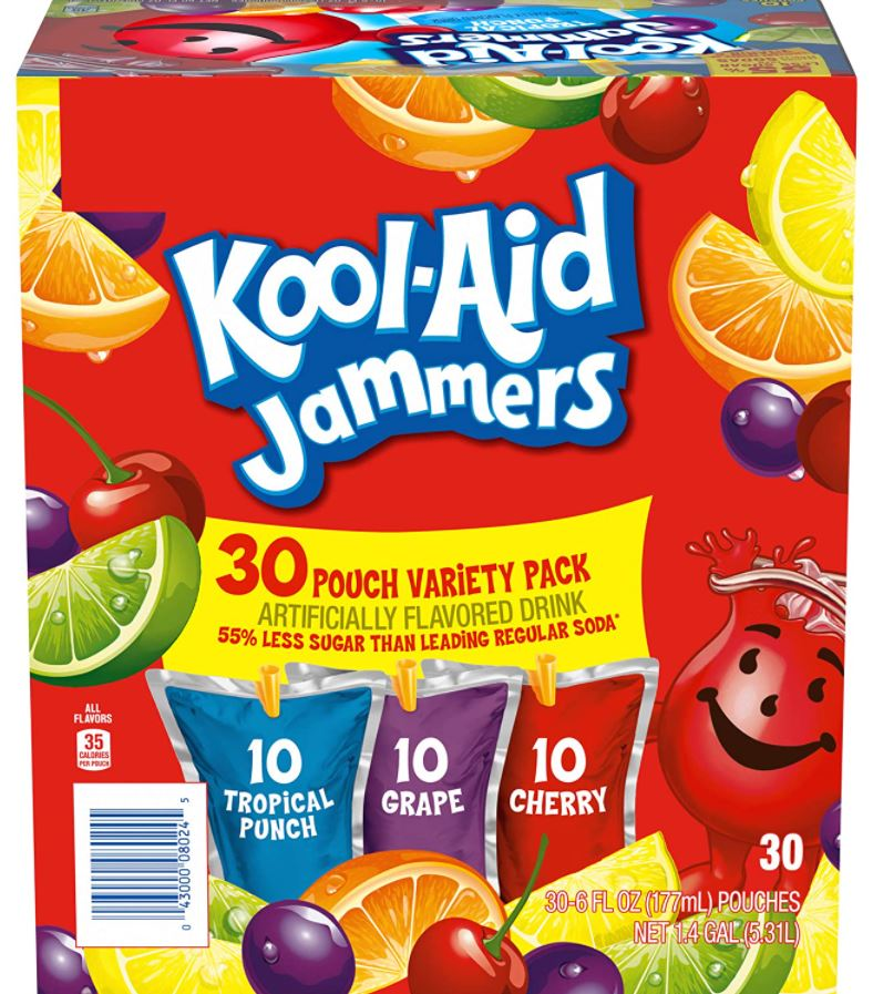 Kool-Aid Jammers Variety Pack 30-Count Only $4.25!!