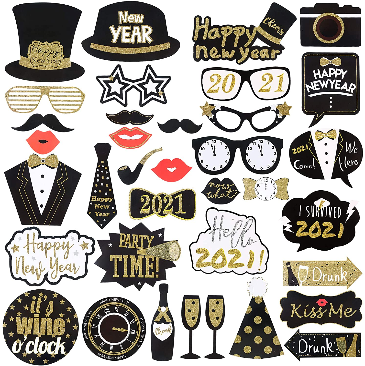 New Year's Photo Booth Props Only $10.99!
