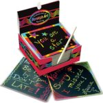 Melissa & Doug Scratch Art Box of Rainbow Mini Notes Only $5.98!