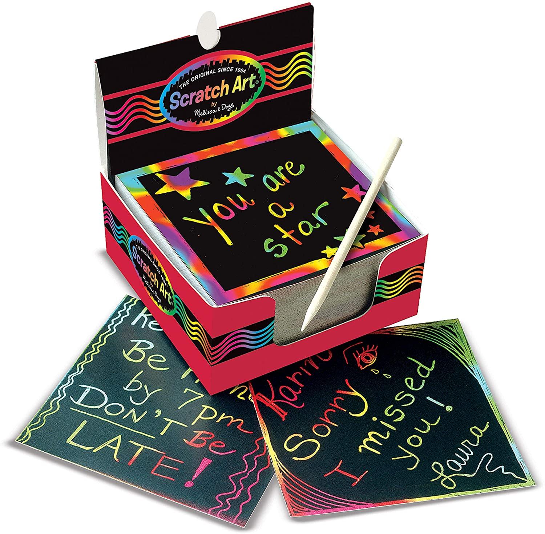 Melissa & Doug Scratch Art Box of Rainbow Mini Notes Only $5.98!
