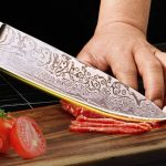 Professional Chef's Knife with Etched Pattern Only $12.50!
