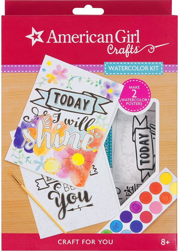 American Girl Crafts Watercolor Motivational Wall Decor Kit