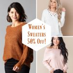 Women's Sweaters On Sale for 50% off This Week! SO CUTE!!