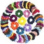 Pack of 60 Velvet Hair Scrunchies Only $8.99!
