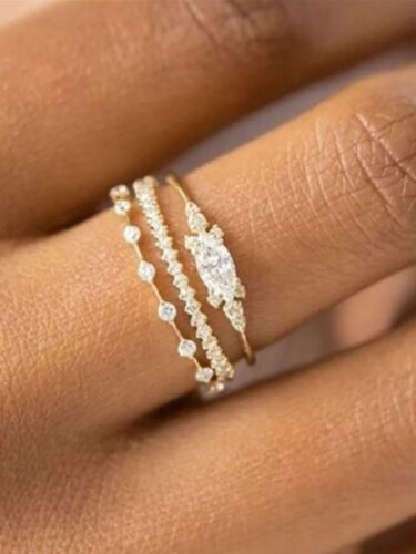 White Sapphire Ring Set on Sale for $7.99 (Reg. $20)!
